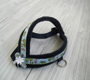 Hundegeschirr-Umfang-35-45-cm-Hundehalsband-Halsband-Hundebekleidung-Handarbeit