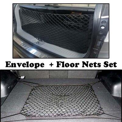 Envelope Floor Side Style Rear Trunk Cargo Net Storage Nets Set For Subaru