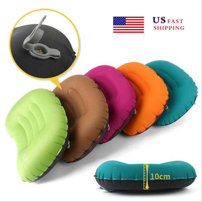 Inflatable Travel Pillow Head Rest Cushion Inflatable Pillow for Camp... - s l1600