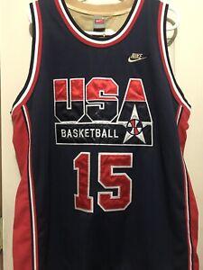 45521a4a9096 NWT Nike NBA Dream Team USA Magic Johnson Gold Medal Large Jersey ...
