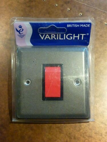Varilight 45 amp SINGLE COOKER SWITCH Graphite 21 XP45SB see matching items