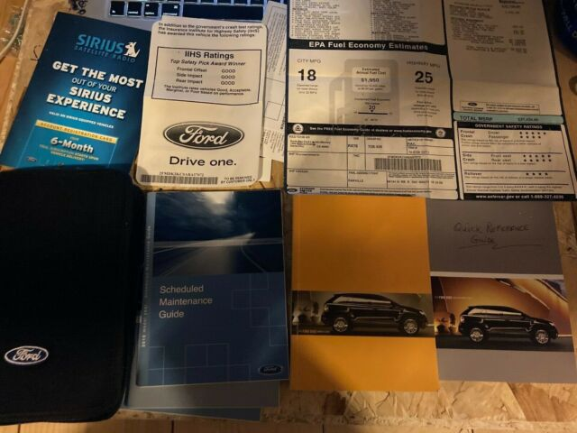 2010 Ford Edge Owners Manual With Case