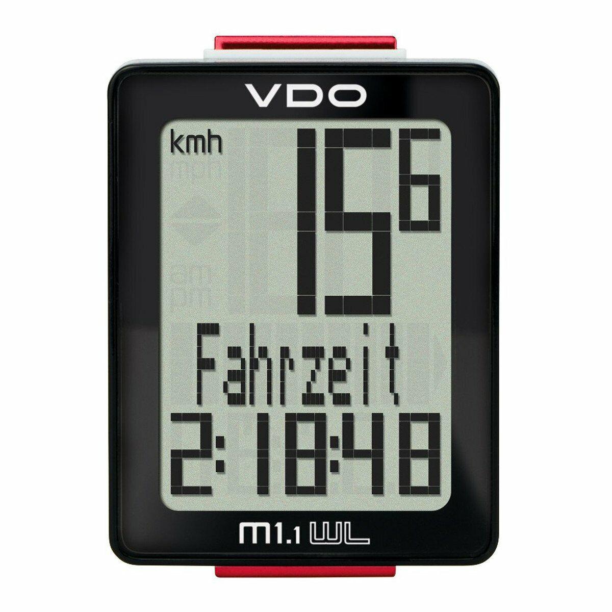 VDO M1.1 Wl Wire Cycle Computer Bike Speedometer