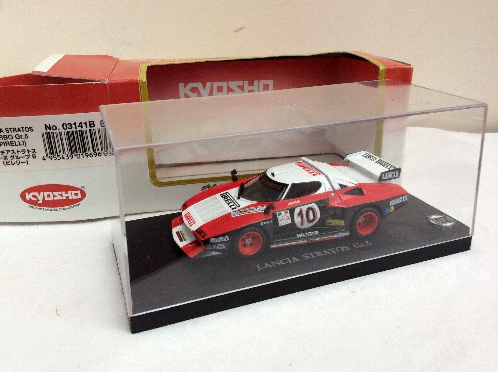 KYOSHO 1 43 Lancia Stratos Turbo Gr5 PIRELLI   10     BOXED