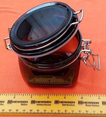 500ml Strong plastic Kilner airtight clip top canister storage jar//tub 4,5,10