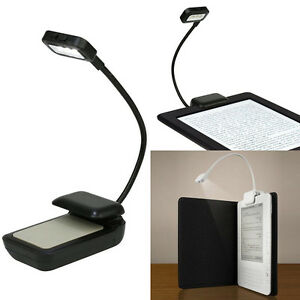 Image Is Loading Flexible Clip On Bright LED Reading Light Lamp  Photo