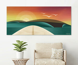 Surfing Home Decor The Lone Surfer Poster Art Print