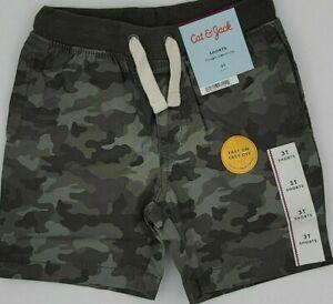 Cat & Jack Boys Flexible Drawstring Camo Print Shorts Size 3T Easy On/Off