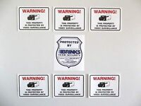 Brinks Adt Home Security Alarm System Warning Sticker+video Camera Decal Signs