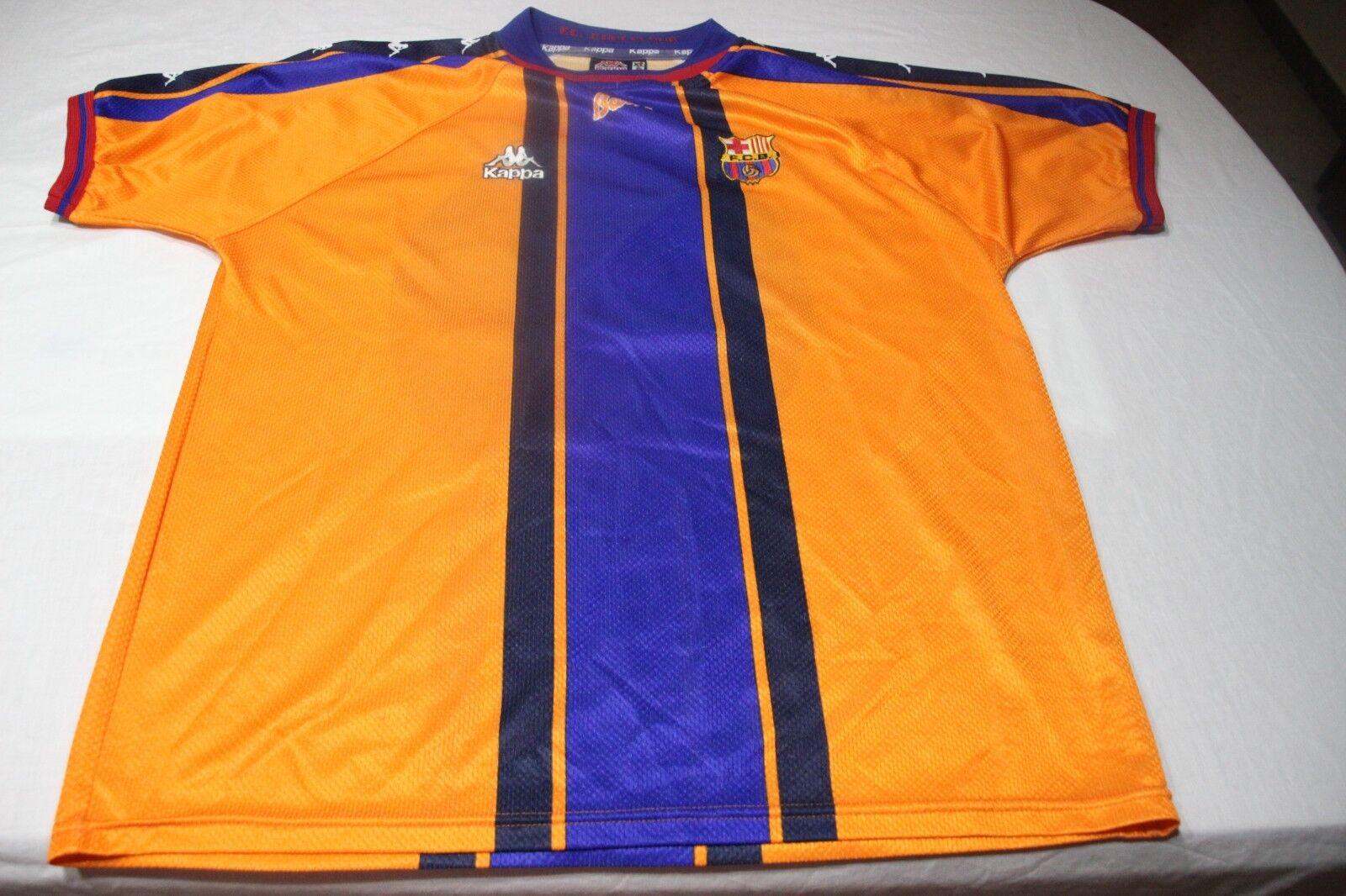 CAMISETA OFICIAL VINTAGE FC BARCELONA MARCA KAPPA TALLA XL Nº 23 DE LA PEÑA SHIR