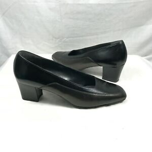 newest preview of check out Ara Elegance Black Leather Classic Pumps Heels 7G | eBay