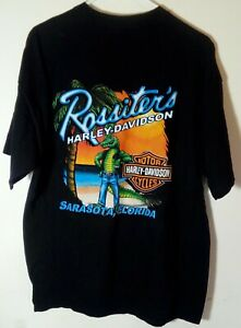 Harley-Davidson-2005-Rossiter-039-s-Gator-Sarasota-Florida-T-Shirt-Sz-XL
