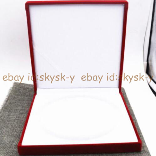 """7 X 7/"""" Large Red Velvet Jewelry Necklace Boxes Christmas Gift Box Presentation"""