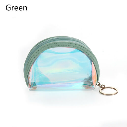Kawaii Zipper Coin Purses PVC Laser Credit Card Holder Mini Wallet Pocket Bag