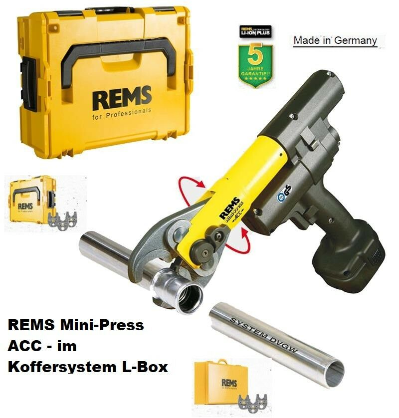 REMS Mini-Press ACC Li-Ion Radialpresse 14,4 V.  Set V 15-18-22