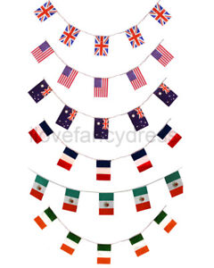 huge country flag bunting all weather pvc party decoration national
