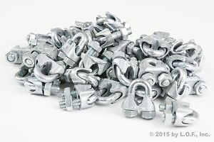50-Galvanized-Zinc-Plated-Wire-Rope-Clip-Clamp-Chain-1-4-Inch-M3-3mm