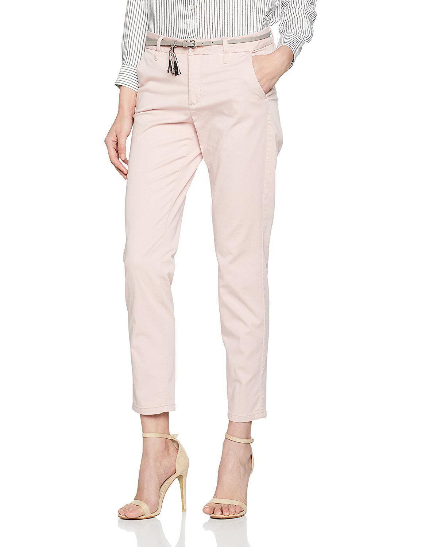 Bonita 1207279 Women Pants Slim Fit Plain Pink