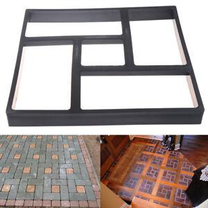 Garden Walk Pavement Mold DIY Manually Paving Cement Brick Stone Road Decorat H5