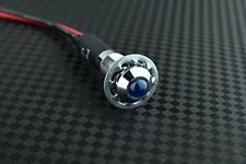 8mm 12v Blue LED Metal Indicator Light | Pilot Dash Pre-Wired LED - US Seller