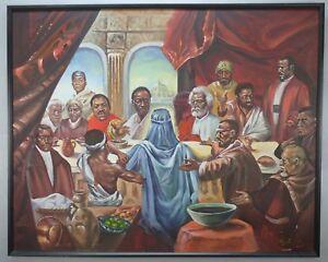 Cornell Barnes African American Black Last Supper Custom Canvas