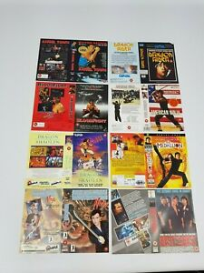 Grande-Caja-VHS-Video-Fundas-sin-Usar-Muestra-Promo-Paquete-Lote-Asia-Kung-Fu-4