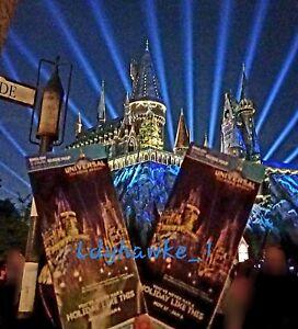 Christmas At Universal Studios Orlando.Details About 2 2018 Universal Studios Orlando Holiday Christmas Maps Hogwarts Harry Potter