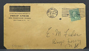 Fos-Philip-Anchor-New-York-times-Square-Station-1922-Cancel-USA-Letter-Lot-5049