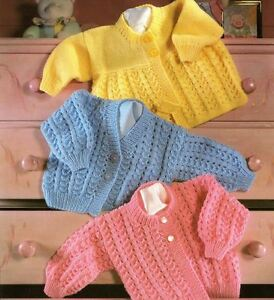 Knitting Pattern for Baby's DK Matinee Coat & Cardigans 31 ...
