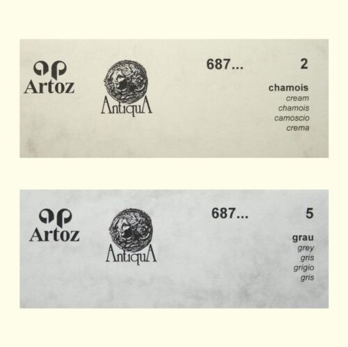 50 Artoz Papier AntiquA Karten einfach DIN A6 200g Farben