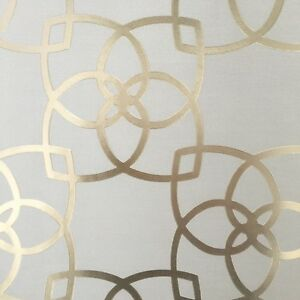 Image Is Loading Metallic Beige With Gold Textured Geometric Wallpaper Moroccan