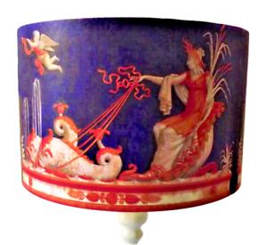 Greek Goddess Lampshade  Made UK Drum Lamp Ceiling Blue orange Shabby Chic