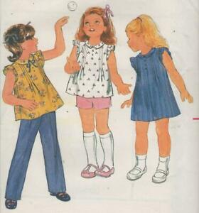 Toddler-Dress-Top-Shorts-Pants-Sewing-Pattern-Size-3-Butterick-3689