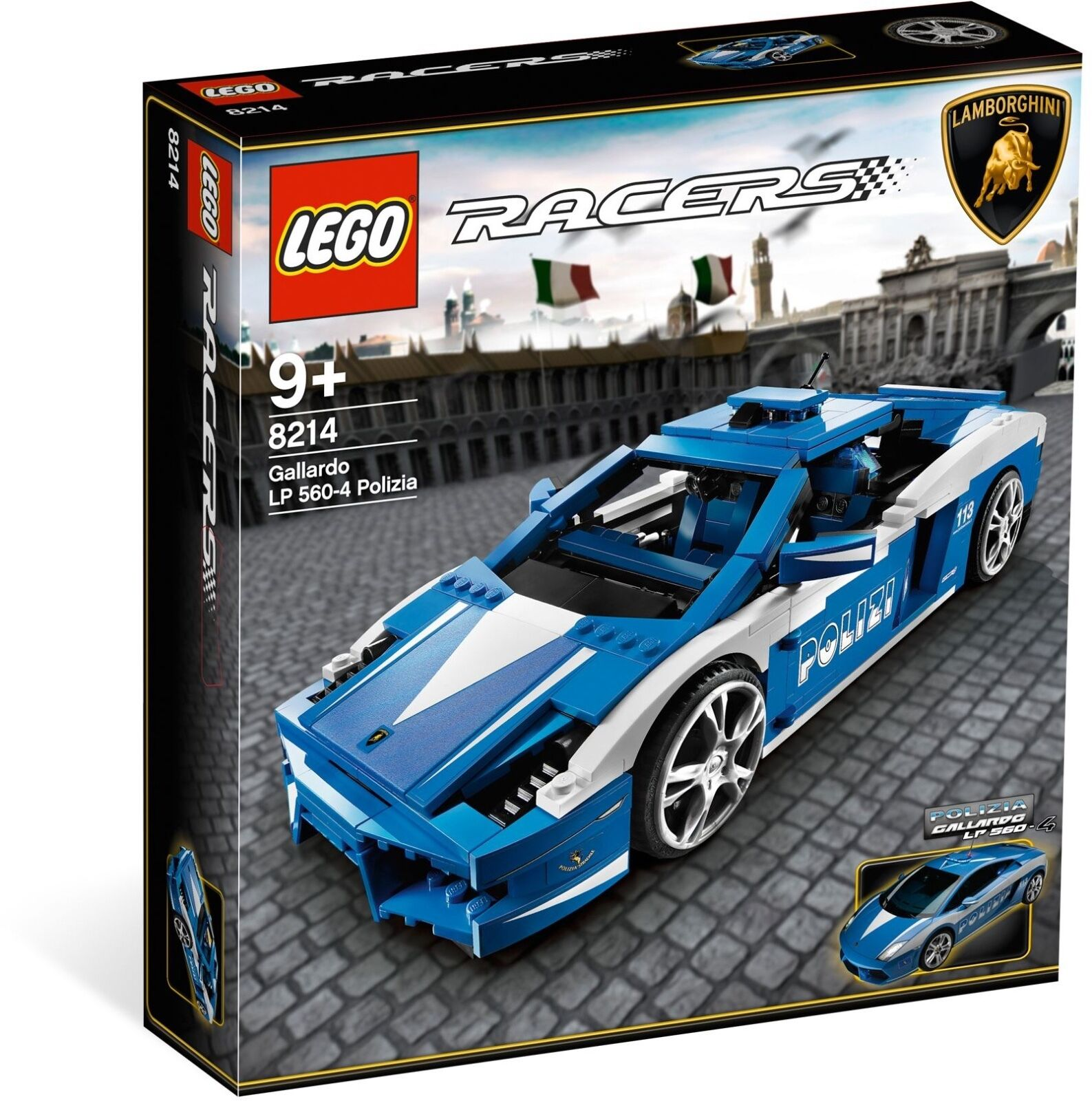 *BRAND NEW* LEGO Racers Gallardo LP 560-4 Polizia (8214)