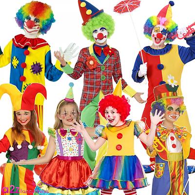 Per Bambini Clown Jester Circo Divertente Bambini Ragazzi Ragazze Costume Costumi-mostra Il Titolo Originale Buona Conservazione Del Calore