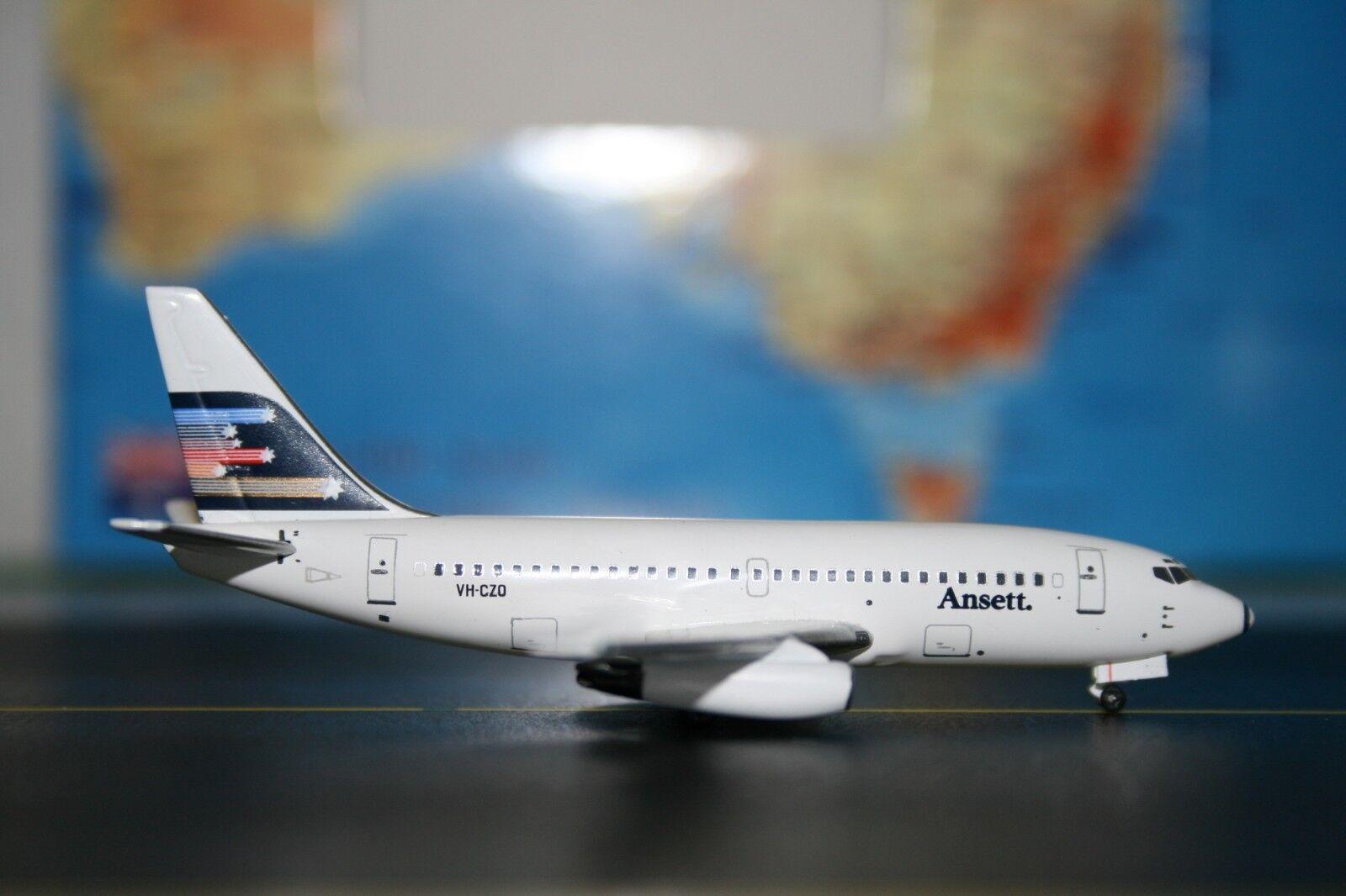 Aeroclassics 1 400 Ansett Boeing 737-200 VH-CZO (ACVHCZO) Die-Cast Model Plane