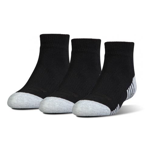 Under Armour Men/'s UA Heatgear Low Cut Socks ~ 3 Pairs ~ MED /& LG ~ Black /& Gray