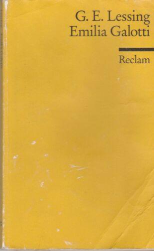 1 von 1 - Gotthold Ephraim Lessing - Emilia Galotti
