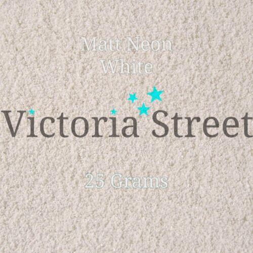 """Victoria Street Glitter Neon Matte Brilliant White Fine 0.008/"""" 0.2mm Snow"""