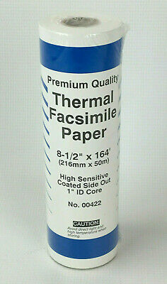 "1"" Id Core Premium Quality Thermal Facsimile Paper 8 1/2"" X 164' 00422 Agreeable Sweetness No"