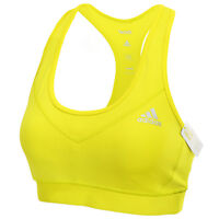 Adidas 2016 Women's Tech-fit Climalite Sports Bra Fitness Gym Yoga Yellow Ay3144
