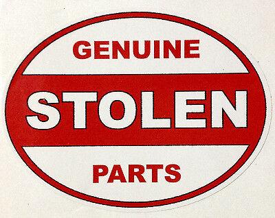 """ProSticker 744 One 4/""""x8/"""" Rat Rod Genuine Stolen Parts Decal Sticker Not A Plate"""
