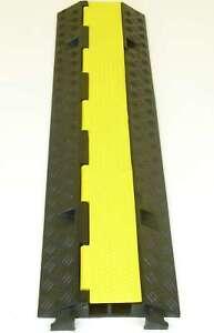 3x 1 Kanal Eco Kabelbrücke Kabelschutz Überfahrrampe Kabelmatte Kabelkanal Rampe Baugewerbe