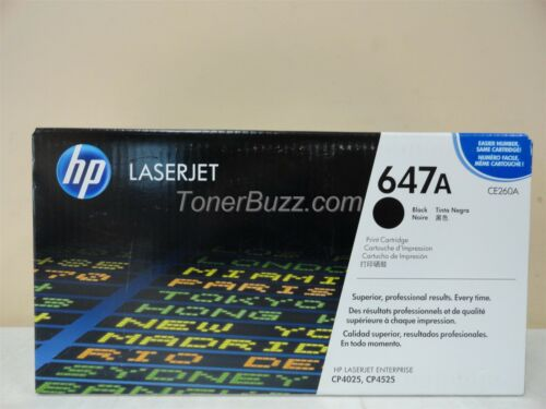 GENUINE HP CE260A 647A BLACK TONER CARTRIDGE LASER JET CP4025 CP4525