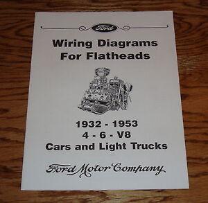 1932 1953 Ford Car Light Truck Wiring Diagram Flatheads 4 6 V8 32 Ebay
