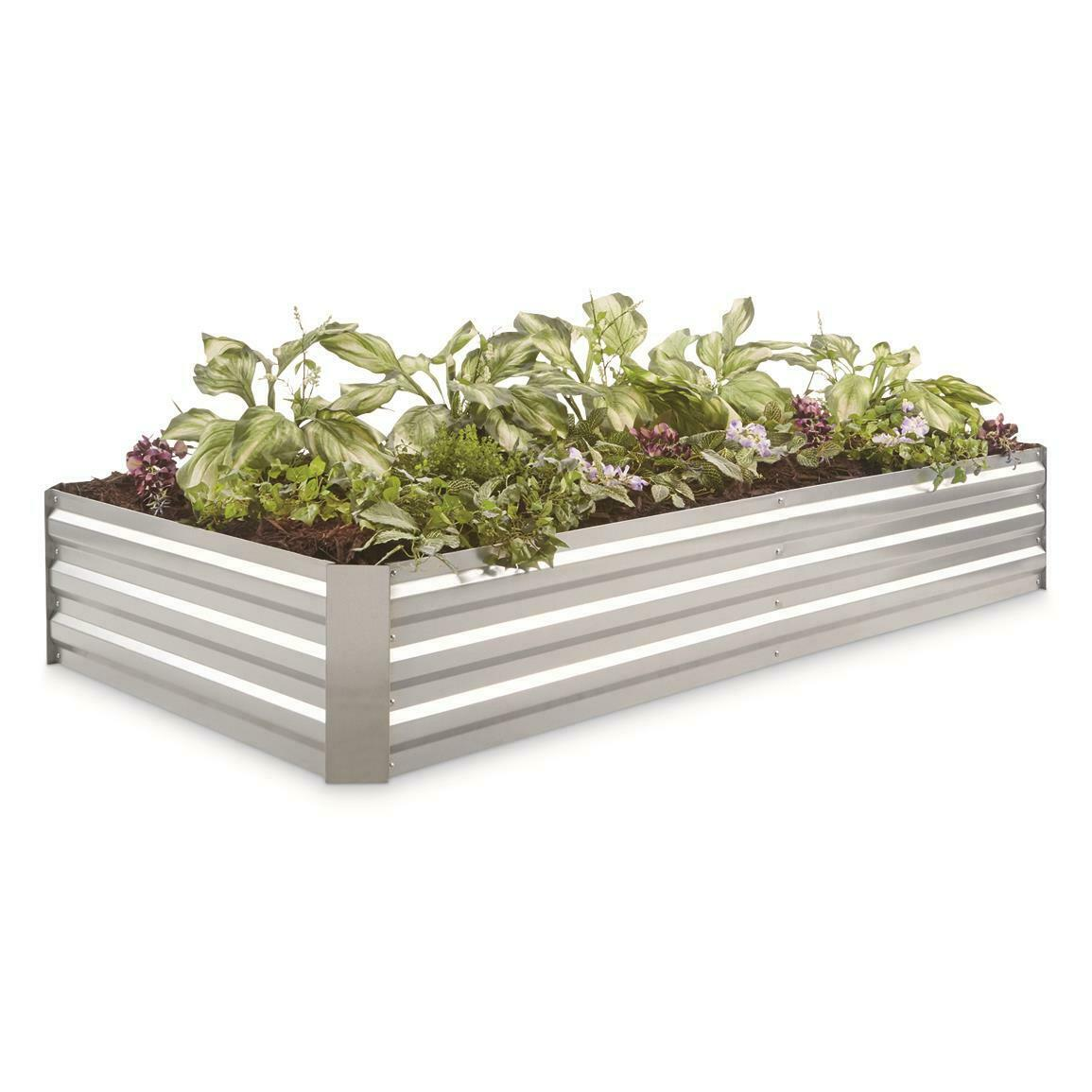 Steel Planter Box Large Galvanized Easy Assembly Modular Design Durable Fit Set For Sale Online