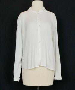 Eileen Fisher pink cotton lightweight shirt size PP Small