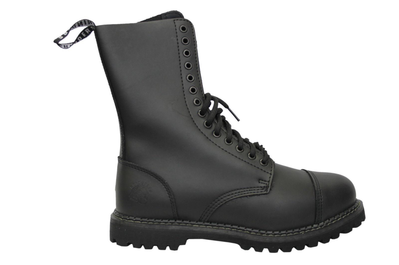 Grinders Herald CS Black 14 Hole Men's Ladies Safety Steel Toe Boots