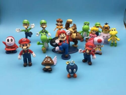Super Mario Bros Lot 18pcs Action Figure Doll Playset Figurine Toy Collection