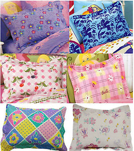 Girls Pillow Cover Shams Pink Purple Bed Childrens Kids